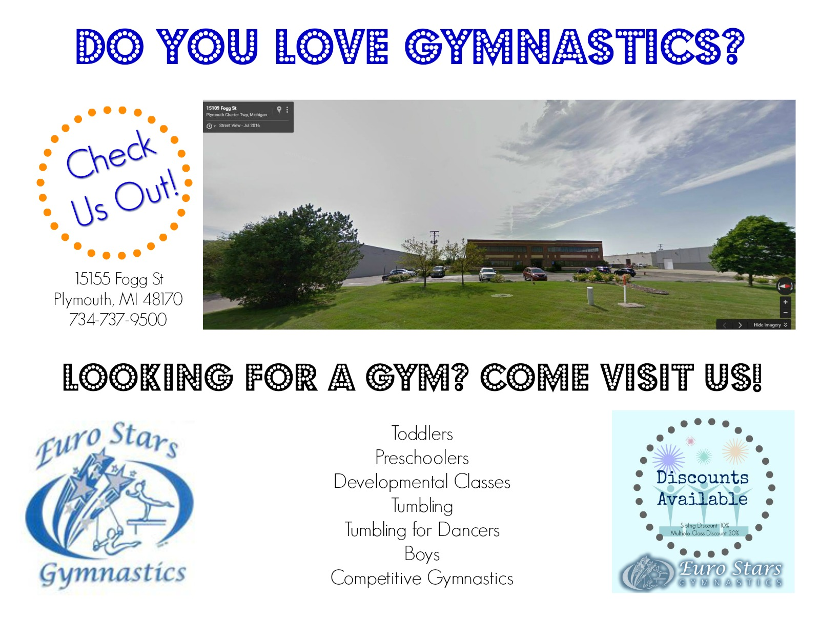 Euro Stars gymnastics, get fit while having fun while for kids of all ages!