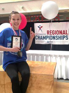 sophia reddy region 5 gymnastics class of 2023